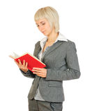 Portrait of a woman with a book Stock Photography