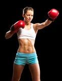Portrait of a woman boxer Royalty Free Stock Photo
