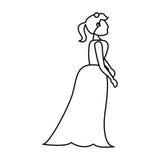 Portrait woman bride image outline Stock Photo