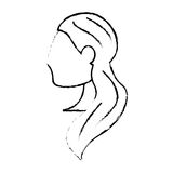 Portrait woman bride image sketch Royalty Free Stock Photography