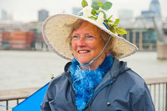 Portrait of woman celebrating the Silver Jubilee Royalty Free Stock Photography