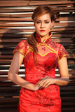 Portrait of woman Chinese dress Royalty Free Stock Photos