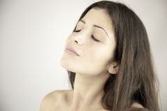 Portrait of woman with closed eyes Stock Image
