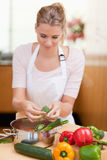 Portrait of a woman cooking Royalty Free Stock Photo
