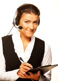Portrait of woman customer service worker Royalty Free Stock Photos