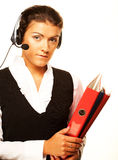 Portrait of woman customer service worker Stock Images
