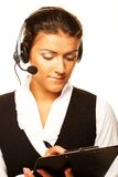 Portrait of woman customer service worker Royalty Free Stock Photo