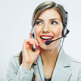 Portrait of woman customer service worker, call ce Royalty Free Stock Photo