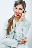 Portrait of woman customer service worker, call ce Royalty Free Stock Photography