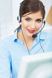 Portrait of woman customer service worker, call ce Stock Photos