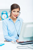 Portrait of woman customer service worker, call ce Stock Photography