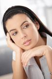Portrait of woman daydreaming Royalty Free Stock Photos
