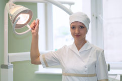 Portrait of woman dentist in  clinic Royalty Free Stock Photo