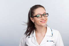 Portrait of woman doctor Royalty Free Stock Photos