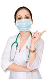 Portrait of a woman doctor in a mask Royalty Free Stock Images