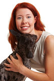 Portrait of woman with dog Stock Image