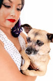Portrait of woman with dog. Stock Photography