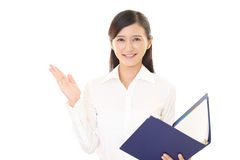 Portrait of a woman doing a presentation Stock Image