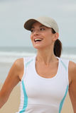 Portrait of woman doing sport Royalty Free Stock Photos