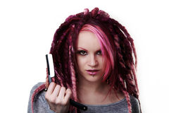 Portrait of woman with dreadlocks hair Royalty Free Stock Images