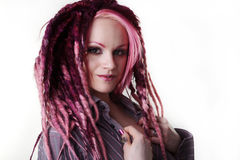 Portrait of woman with dreadlocks hair Stock Photography