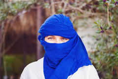 Portrait of the woman dressed in Arab costume Royalty Free Stock Image