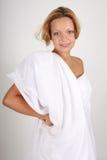 Portrait of woman dressed like Greek Goddess Stock Image