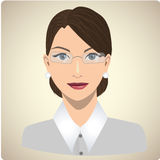 Portrait of woman dressed like a teacher Stock Photos