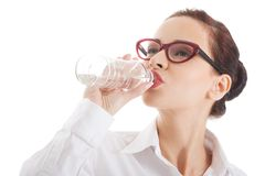 Portrait of a woman drinking water Royalty Free Stock Photography