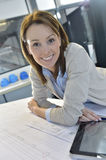 Portrait of a woman engineer working on a project Royalty Free Stock Image