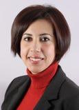 Portrait woman executive. With a orange vest royalty free stock image