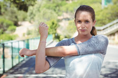 Portrait of woman exercising Royalty Free Stock Images
