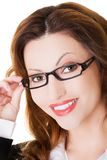 Portrait of woman in eyewear looking at the camera Stock Image