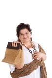 Portrait of woman fashionable Stock Photo