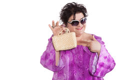 Portrait of woman fashionable Royalty Free Stock Photography