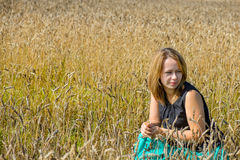 Portrait of woman in field Royalty Free Stock Photography