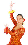 Portrait of woman flamenco dancer Stock Images