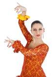 Portrait of woman flamenco dancer Stock Images