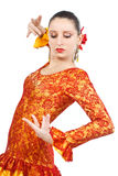 Portrait of woman flamenco dancer Stock Photography