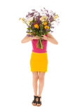 Portrait woman with flowers Stock Image