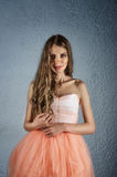 Portrait of woman in fluffy dress Royalty Free Stock Photos