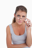 Portrait of a woman with glasses Royalty Free Stock Photo