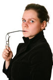 Portrait of woman with glasses Stock Images