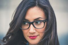 Portrait of woman with glasses Stock Photography