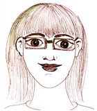 Portrait of a woman with glasses Stock Image