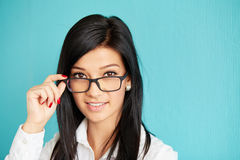 Portrait of woman in glasses Stock Image