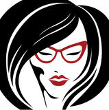 Portrait of  woman in glasses Royalty Free Stock Photos