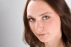 Portrait of a woman with green eyes Stock Photo