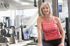 Portrait Of Woman At Gym Stock Photography