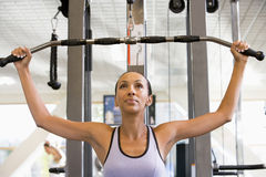 Portrait Of Woman At Gym Stock Images